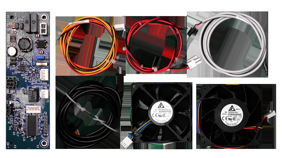 Items included in  full fan controller kit.