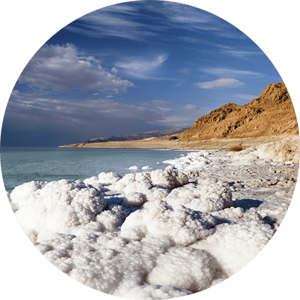 100% pure sea salts sourced from the Dead Sea