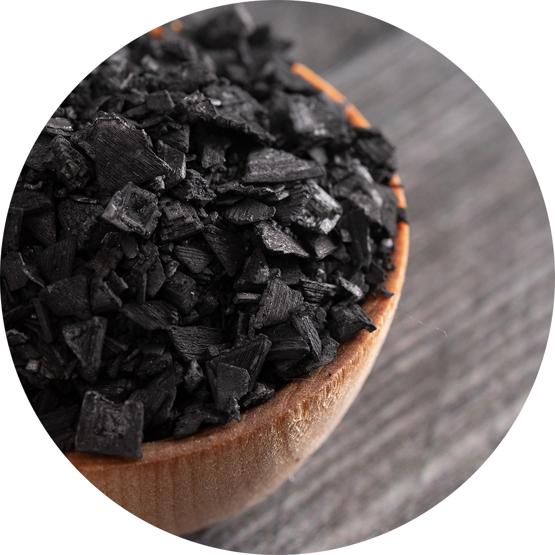 coconut-derived activated charcoal used in Source Vital product formulations