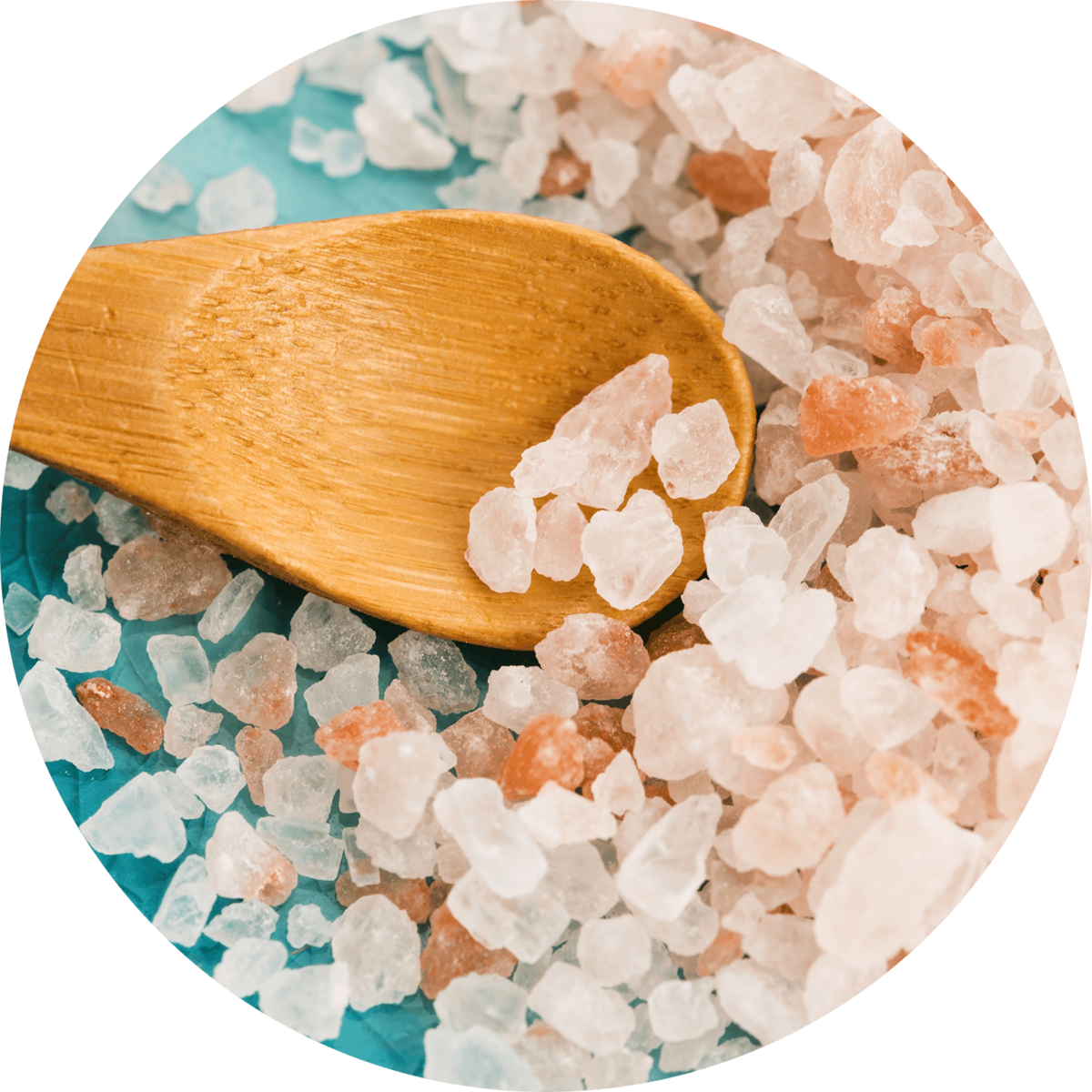 natural, pink himalayan salts for bathing and good health