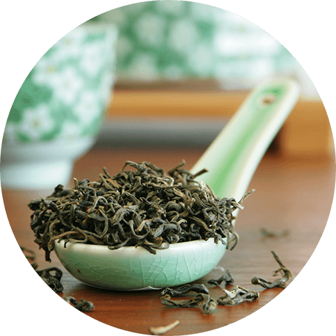 Green Tea Extract high in polyphenols to protect from skin aging