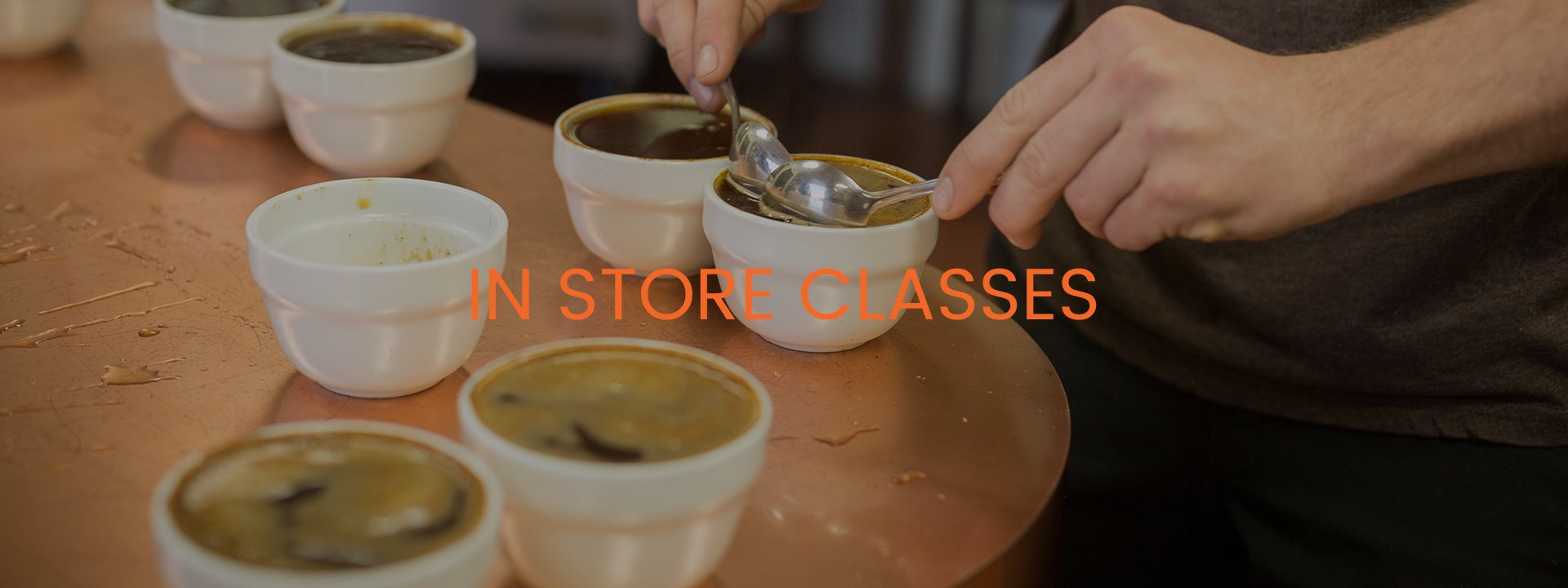 IN STORE CLASSES - SCRAPING OIL OFF COFFEE WITH SPOONS