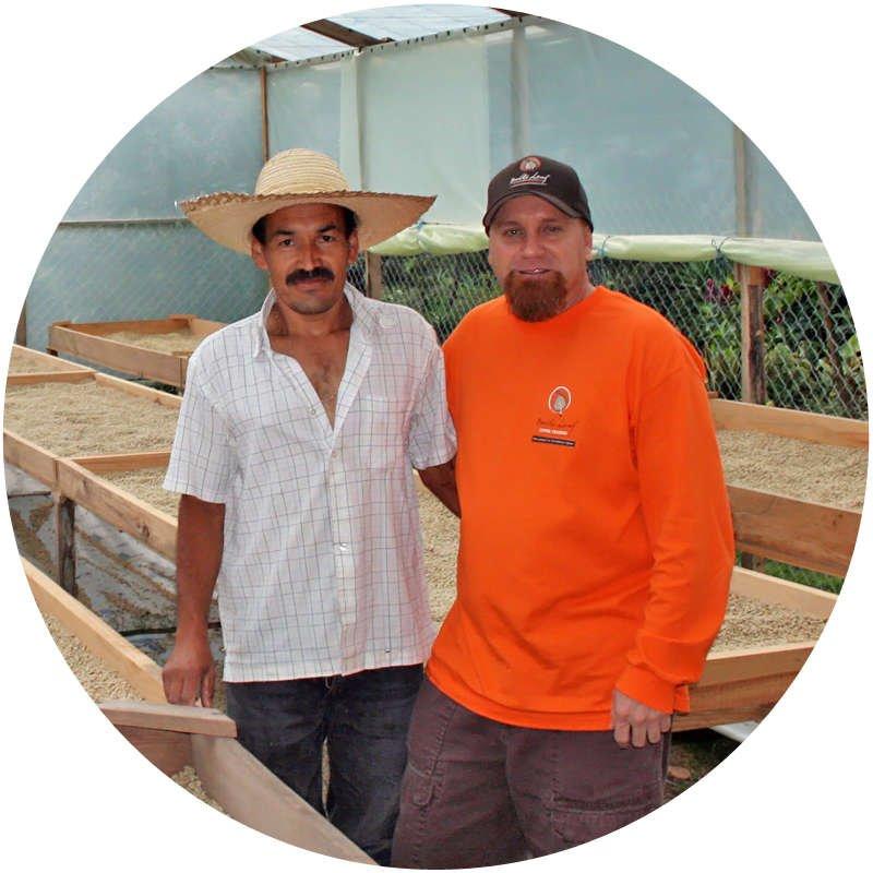 STEVE SIMS WITH COFFEE FARMER