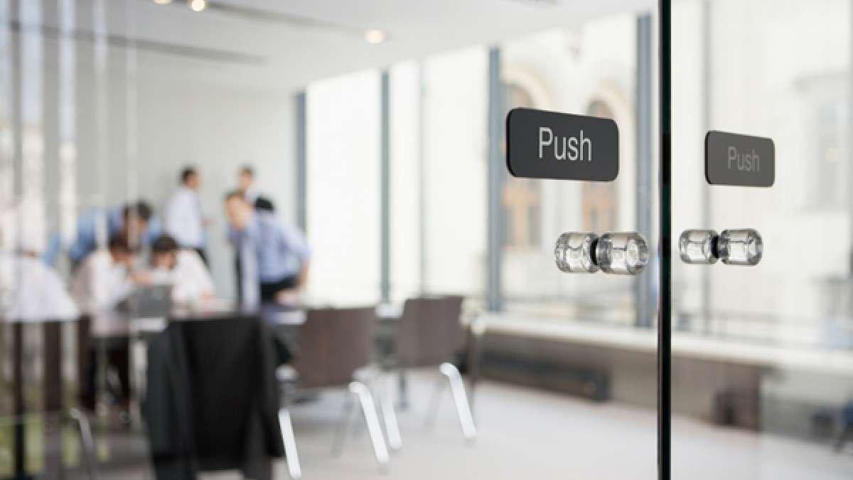 Office door meeting room