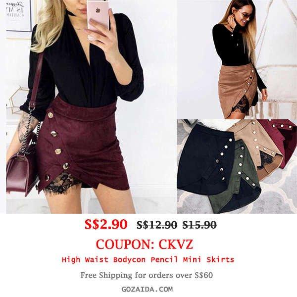 High Waist Bodycon Pencil Mini Skirts
