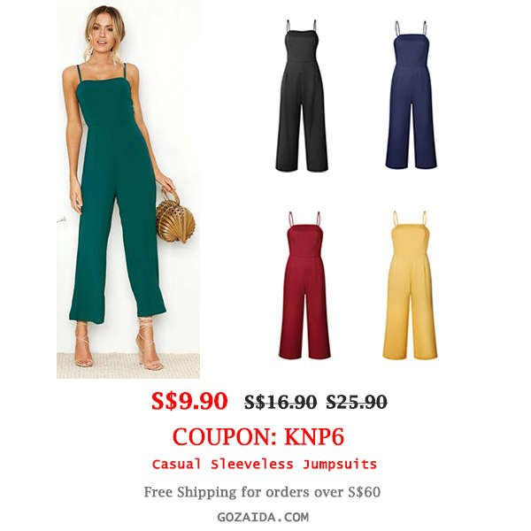Casual Sleeveless Jumpsuits