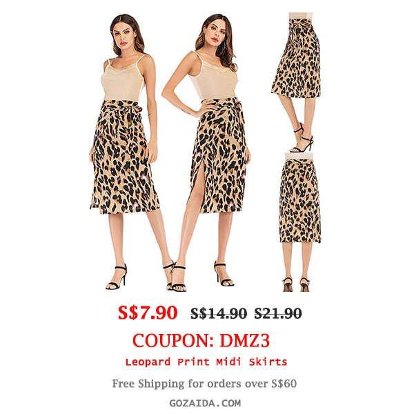 Leopard Print Skirts Sale