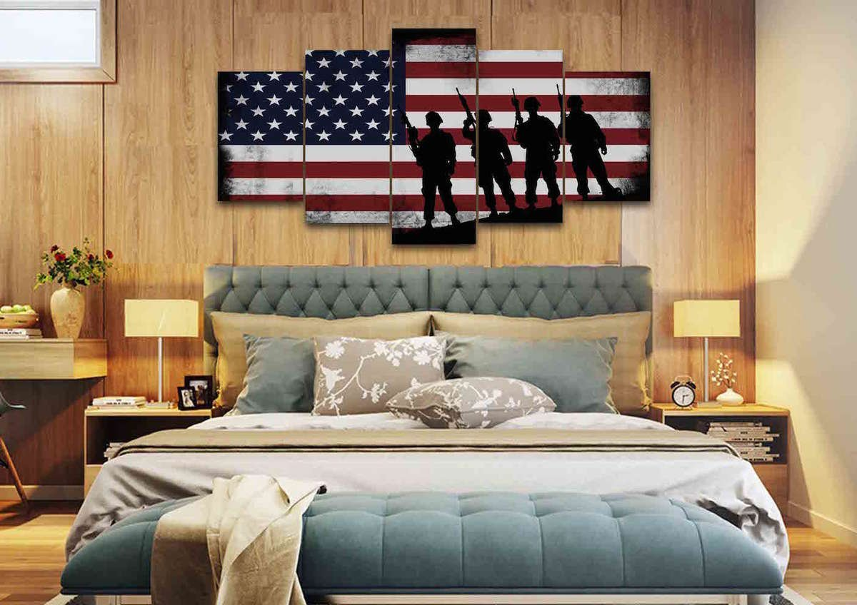 The U201cAmerican Wayu201d Can Be Seen As Soon As You Use This Amazing And  State Of The Art Canvas In Your House.