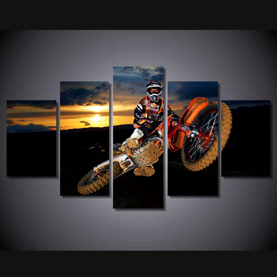 motocross supercross dirtbike air stunt multi panel canvas wall there s no doubt that you love dirt bikes