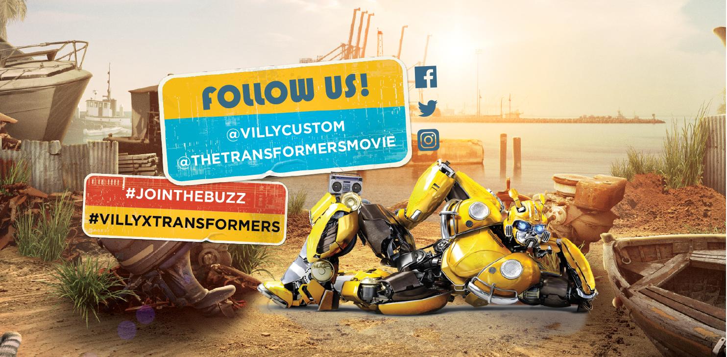 Follow Us - @VillyCustom @TheTransformersMovie - #Jointhebuzz #VillyxTransformers