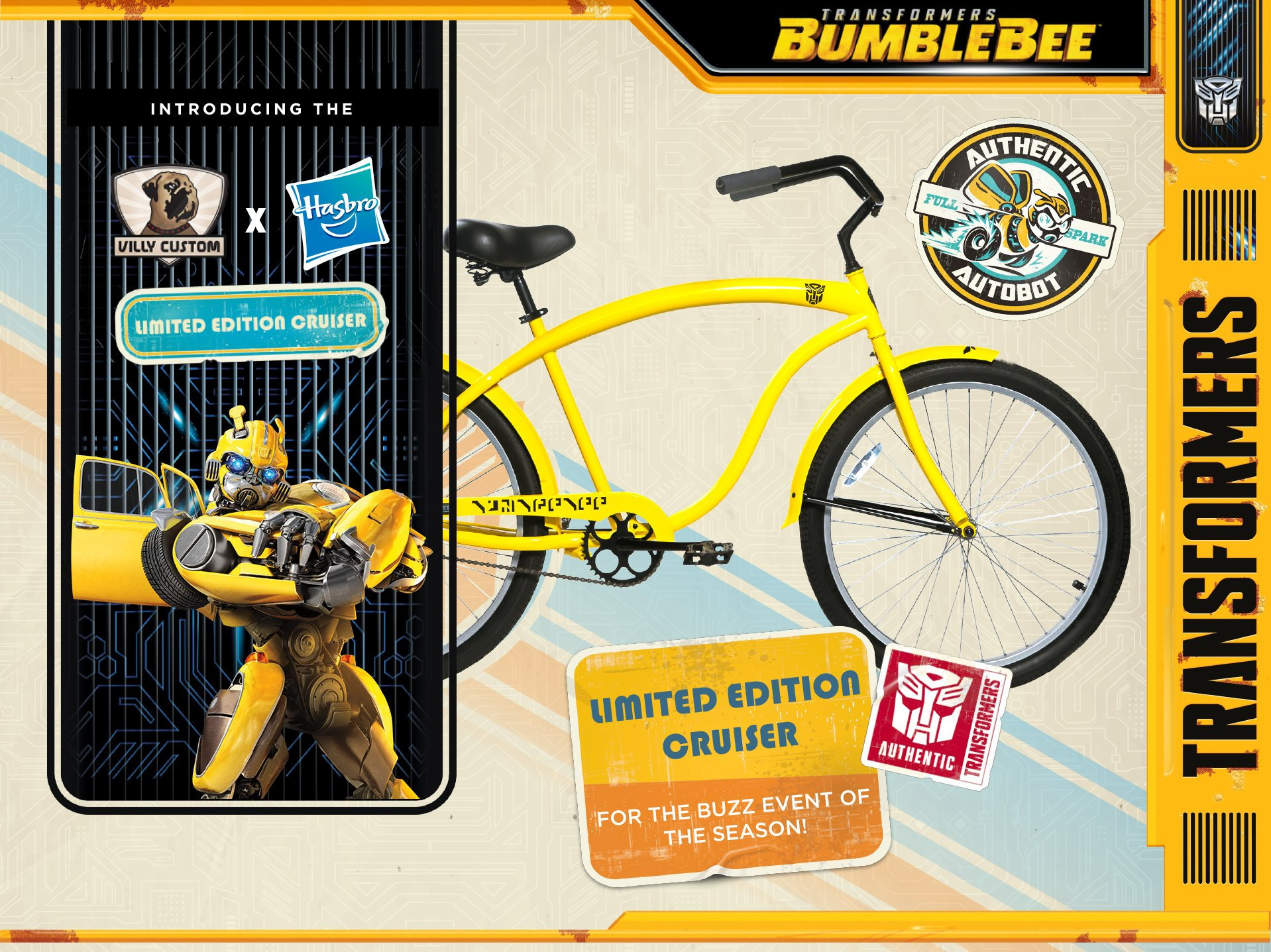 Introducing Hasbro x Villy Custom Collaboration - Bumblebee Cruiser