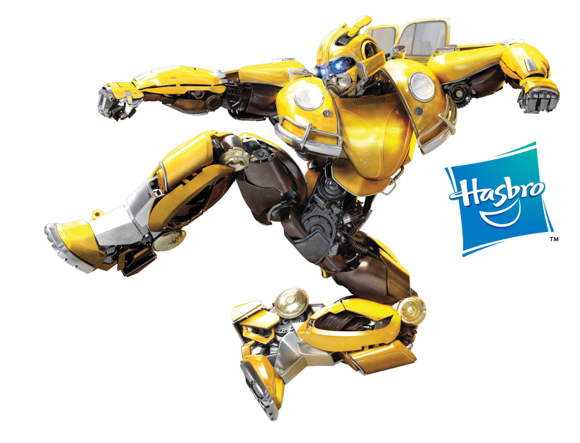 Bumblebee Kicking into Action + Hasbro