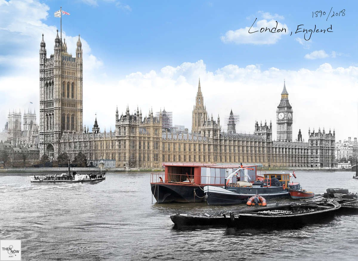 Then & Now Art®: London, England [1890/2018]