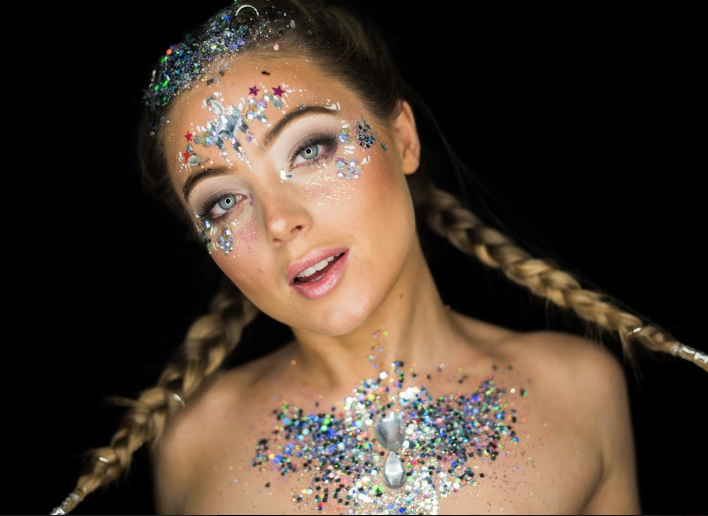 festival glitter braids ideas