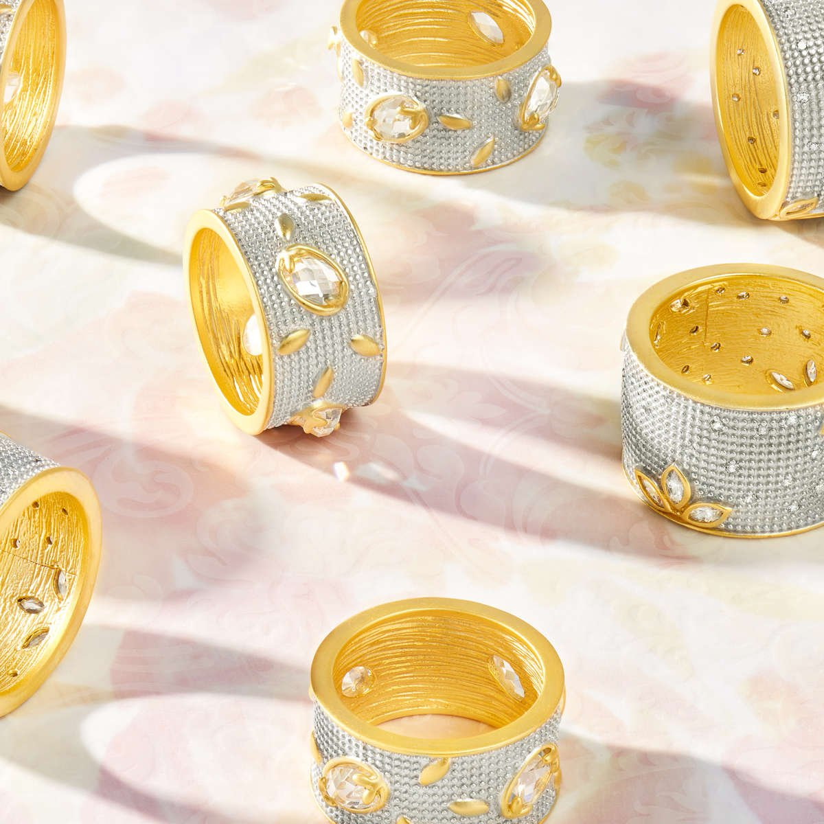 Shop FREIDA ROTHMAN Fleur Bloom Cigar Band Ring