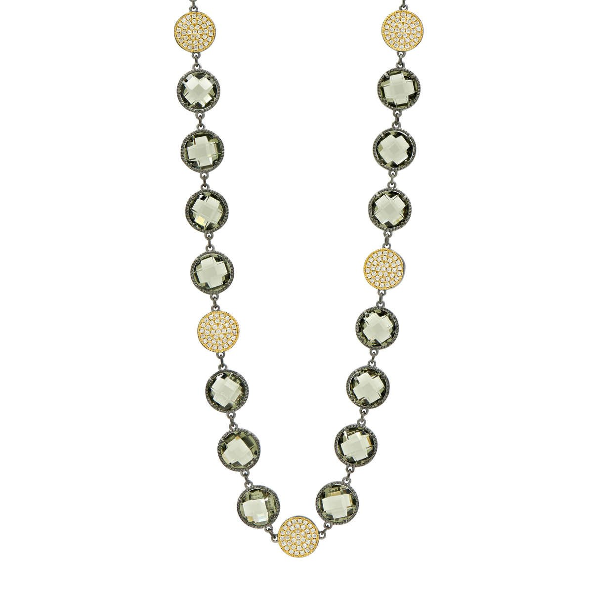 ROSE D'OR BRILLIANCE LONG STRAND NECKLACE
