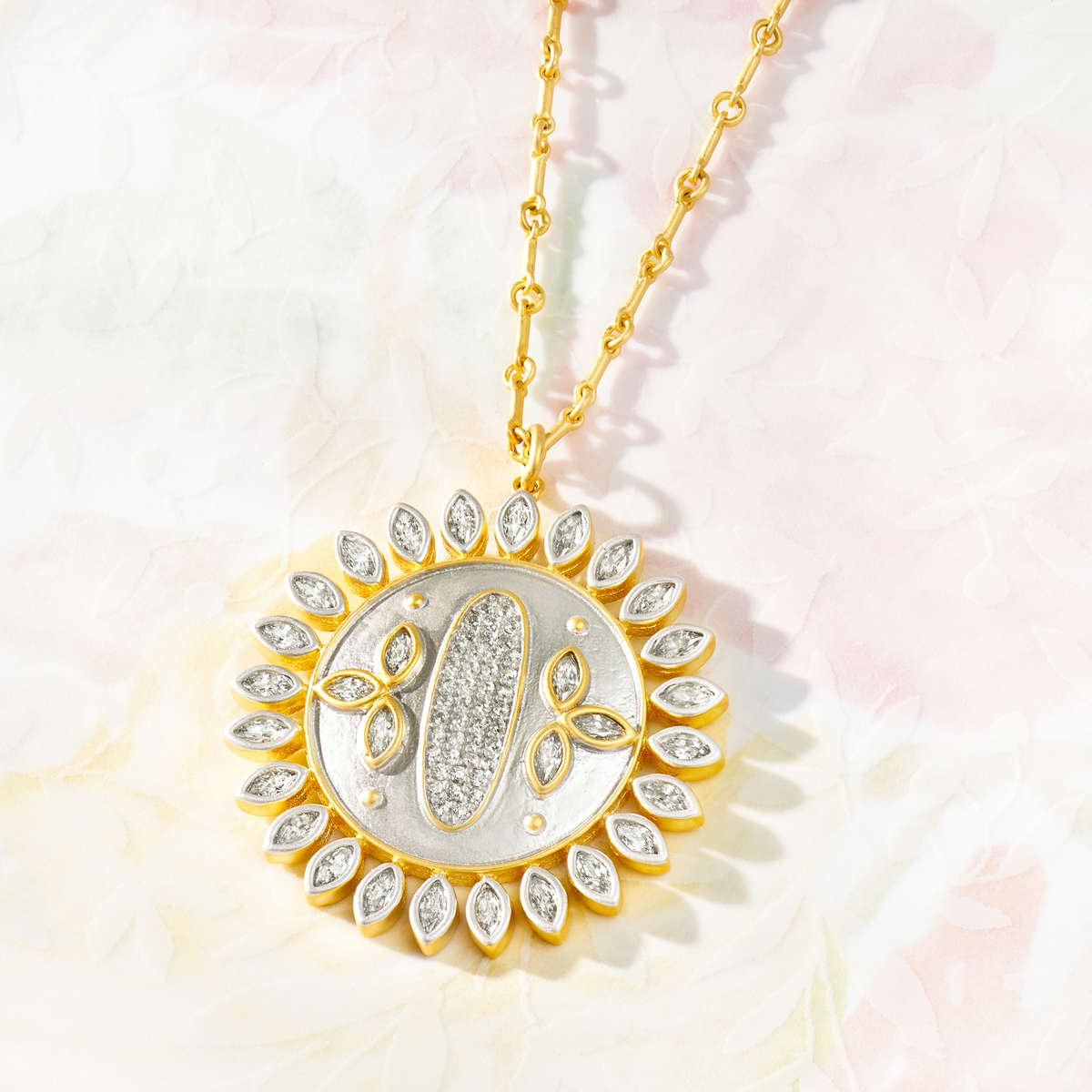 Fleur Bloom Starbust Pendant Necklace
