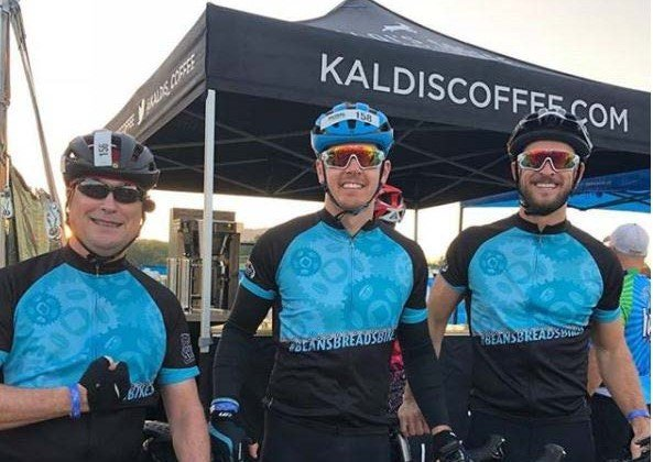 Our Team at the Pedal with the Cause Event | Kaldi's Coffee Charitable Donations