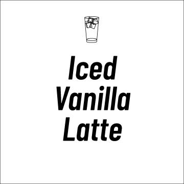 Iced Vanilla Latte Recipe Page