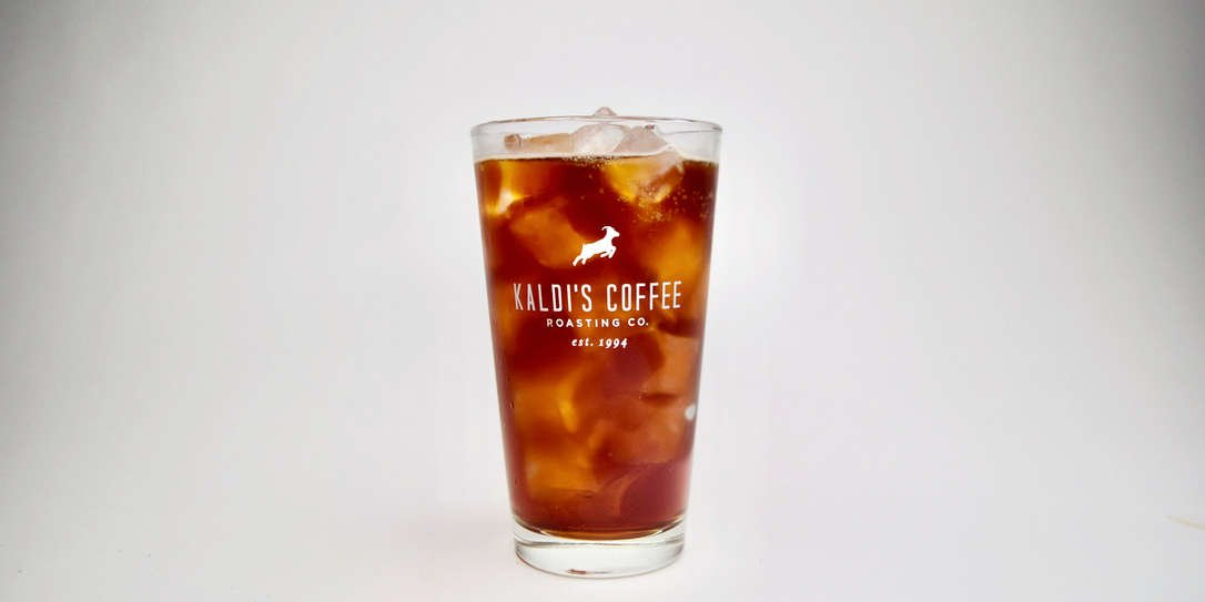 A glass of iced cold brew coffee