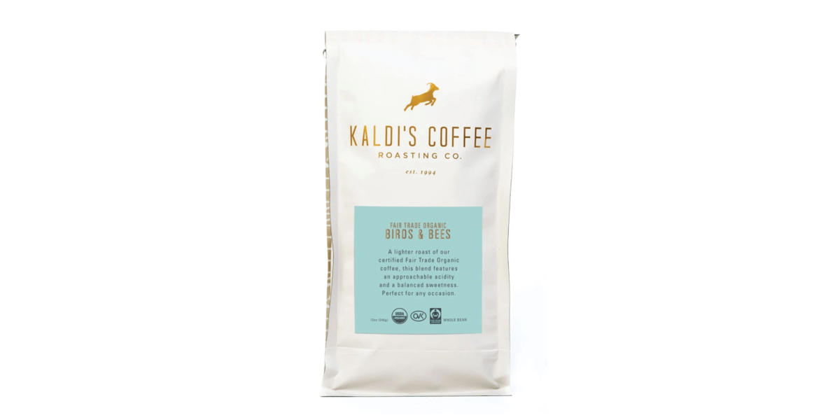 A 12oz bag of our Birds and Bees coffee blend