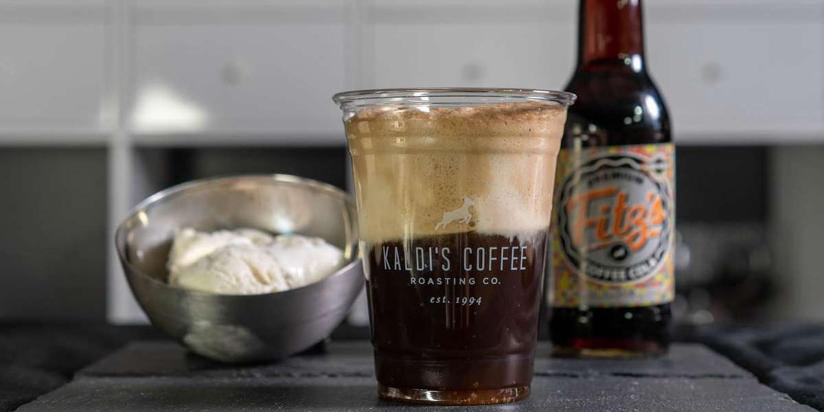 Coffee cola float - Fitz's Coffee Cola with a scoop of ice cream