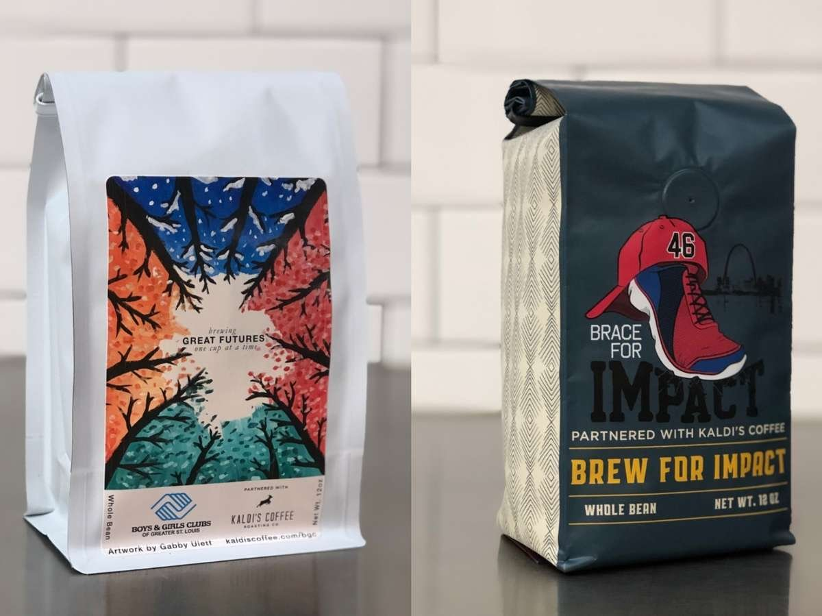 Brew for Impact Blend next to Boys and Girls Club Blend