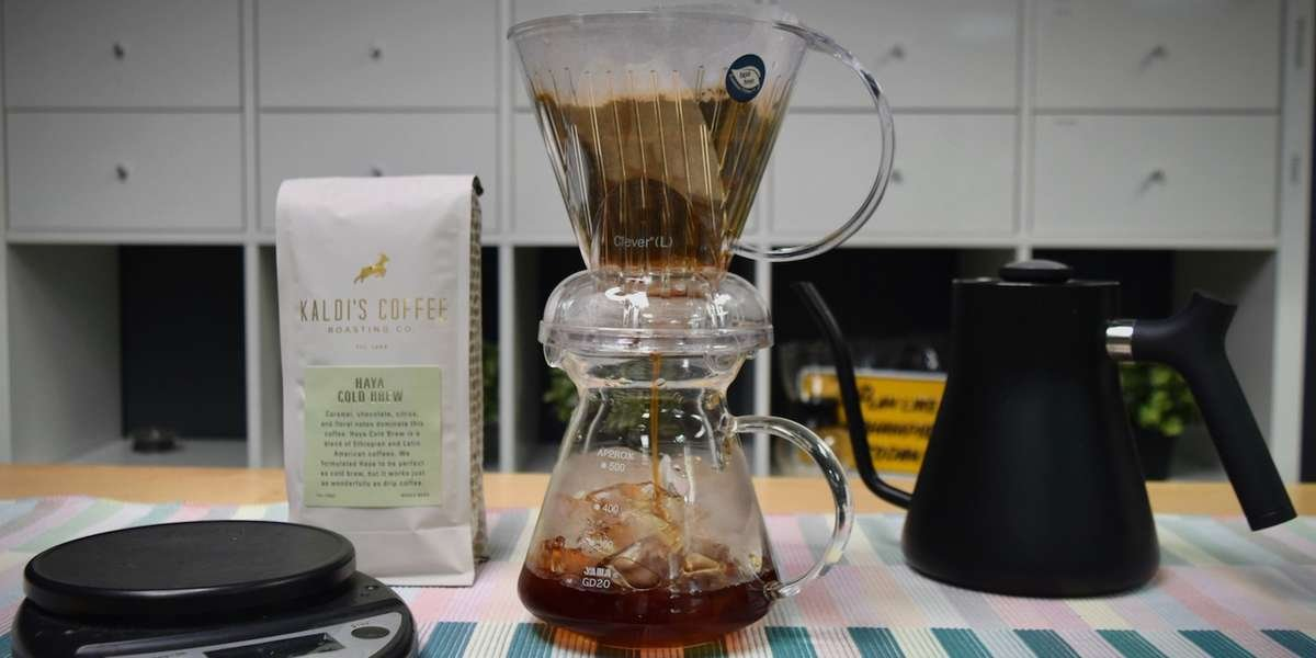 Brewing Iced Coffee With A Clever Dripper