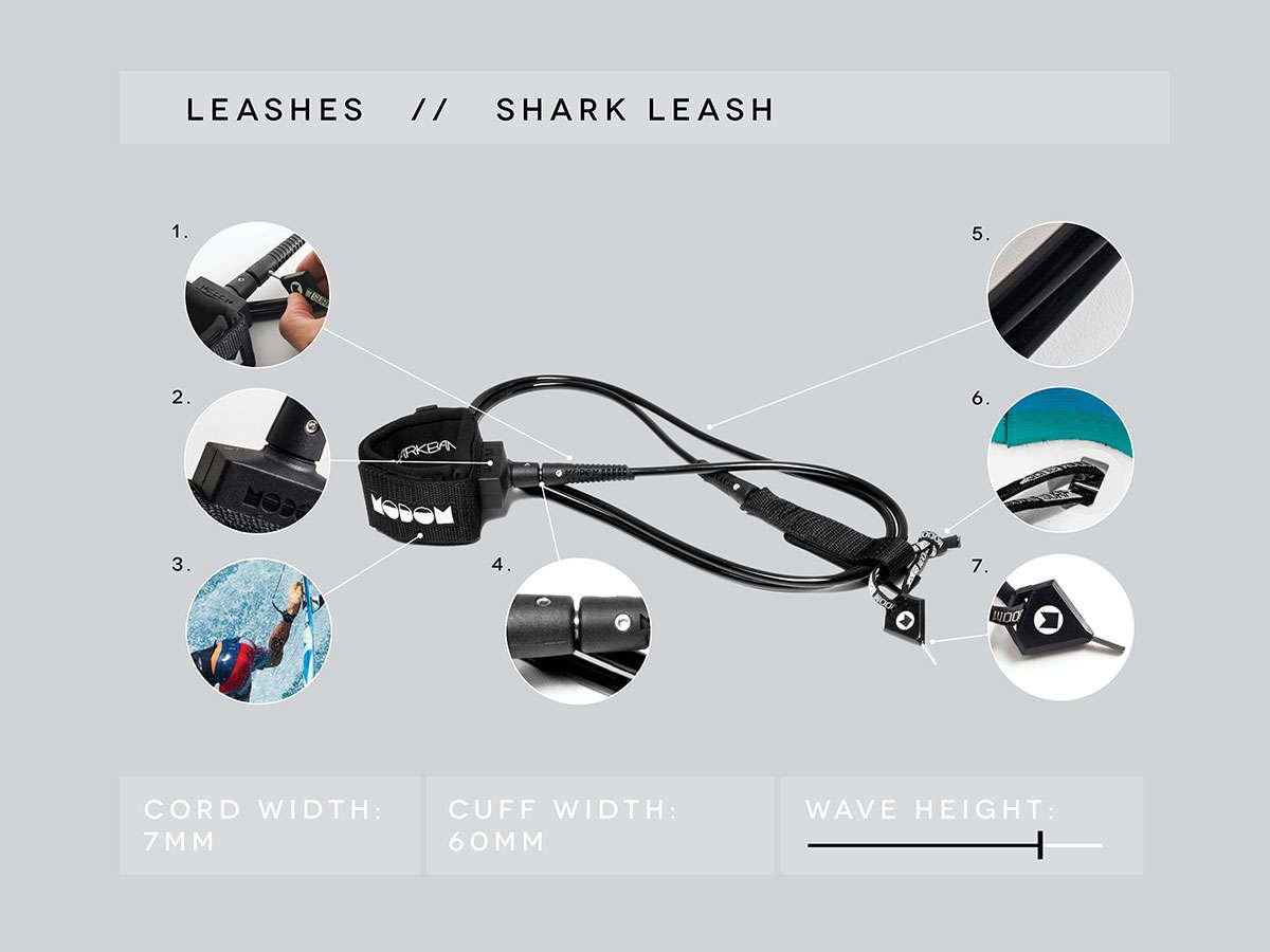 239bd1dbf05 Modom Shark Deterrent Surfboard Leash - Sharkbanz