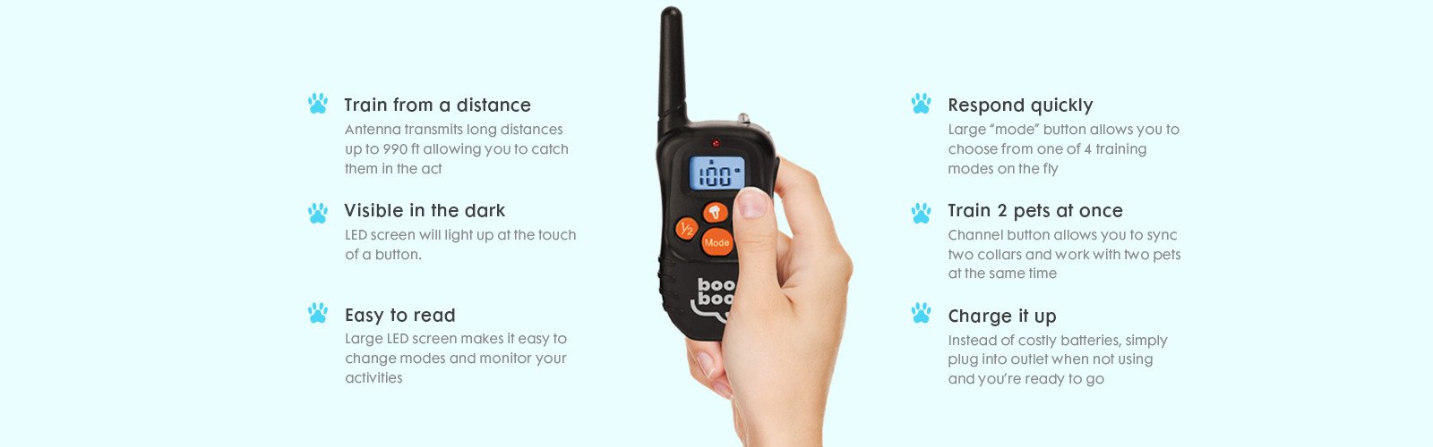 remote for dog training collars