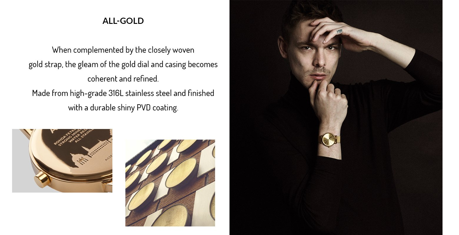 Larsen and Eriksen new collection gold watch