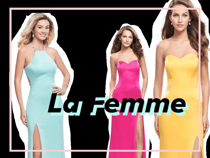 La Femme designer dresses are perfect for your senior prom 2018!