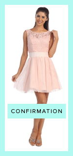 Short high neck confirmation dresses, flowy confirmation dresses, simple and girly confirmation dresses.