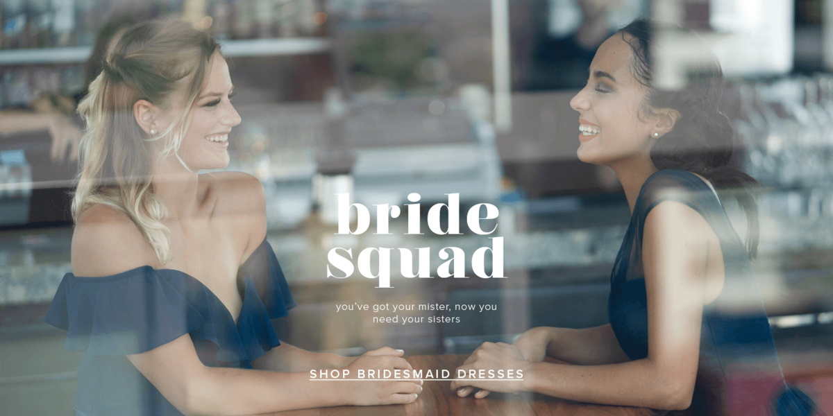 Bridesmaid dresses come in a variety of colors and sizes range from 4 to 20.