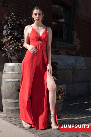 Jumpsuits are the perfect go to outfit for your night out or as a wedding guest outfit.