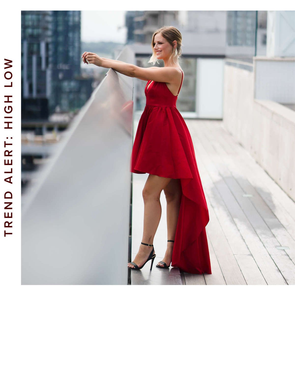 Be Party Ready In This Red High Low Dress Perfect As A Wedding Guest