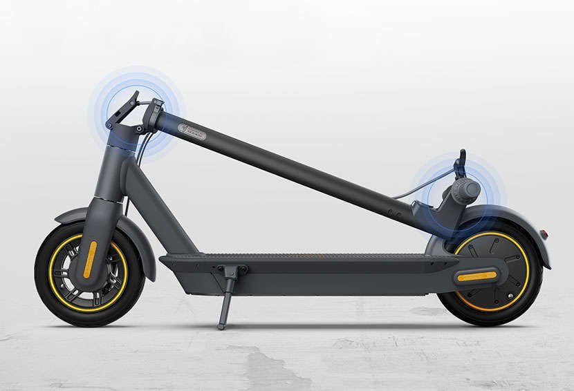 Segway ninebot Max electric scooter folding how to kick stand
