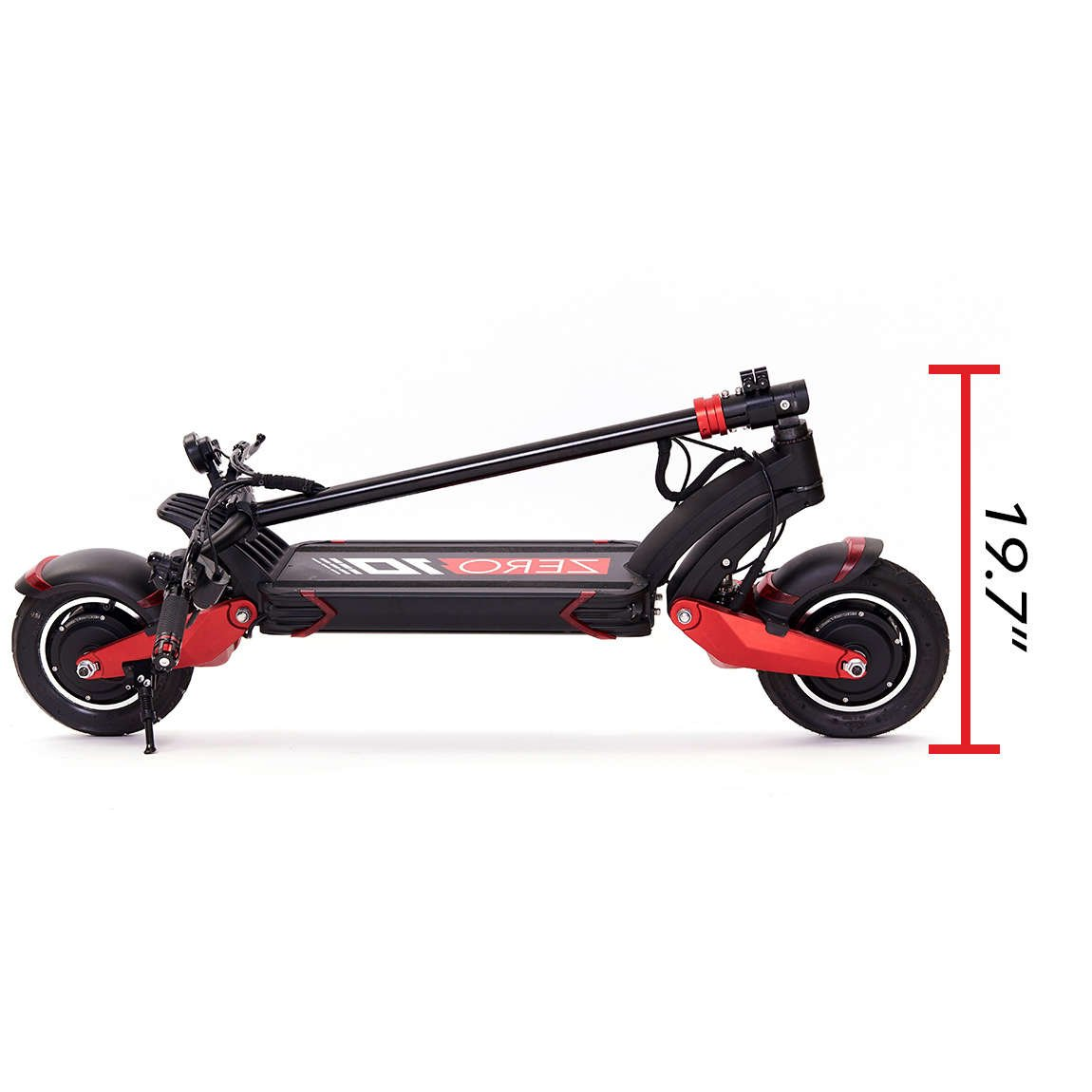zero 10x electric scooter folded height 19.7 in