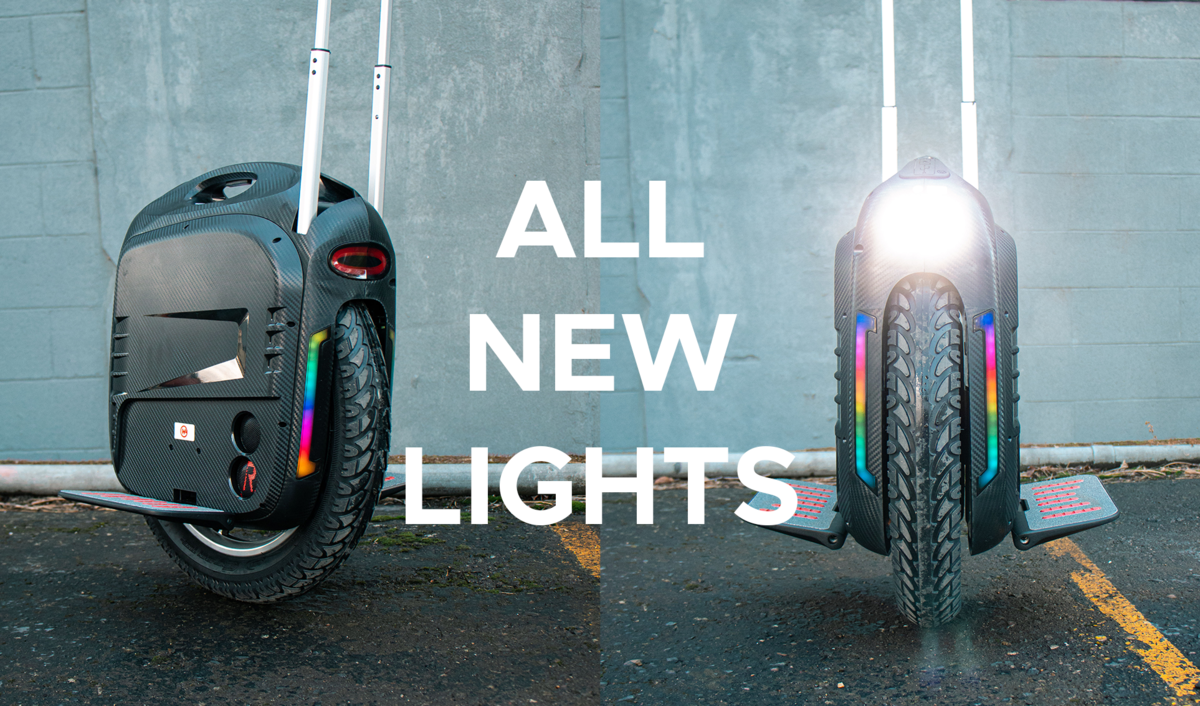 Half eBike Electric Unicycle EUC Gotway RS Lights New
