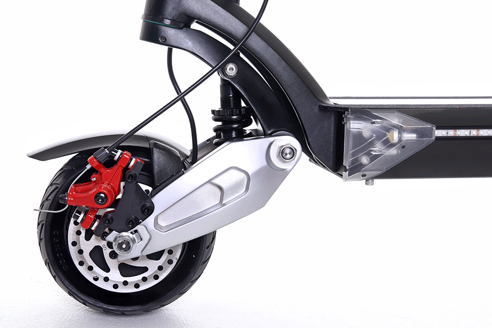 zero 8x electric scooter front motor and suspension
