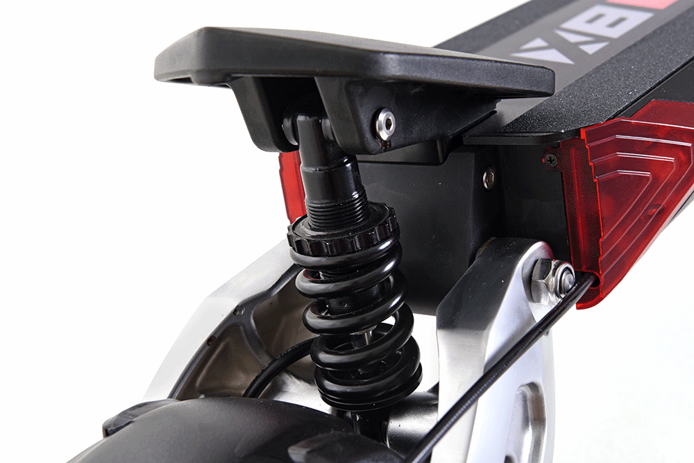 zero 8x electric scooter rear suspension