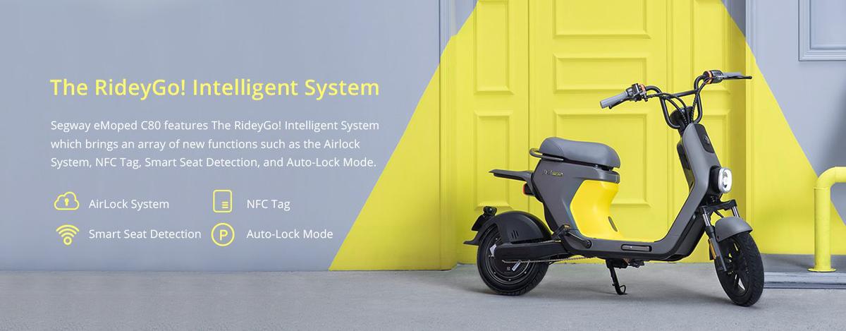 Segway ninebot electric ebike moped c80 smart technology intelligent system