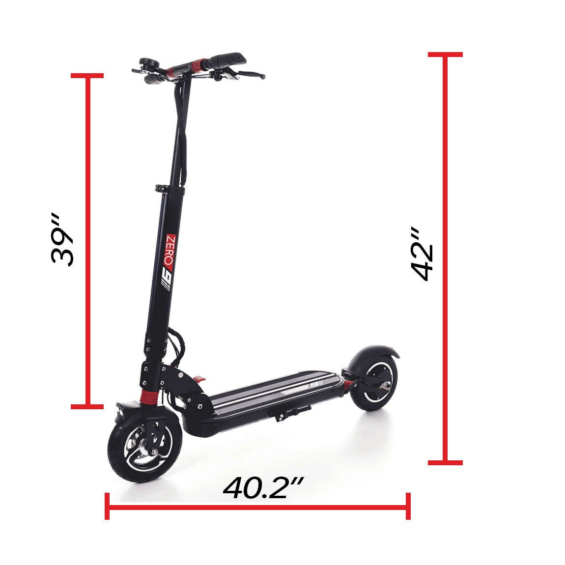 zero 9 electric scooter dimensions unfolded