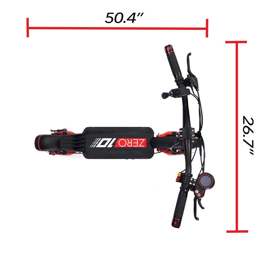 zero 10 electric scooter handlebar width 49.6 inches