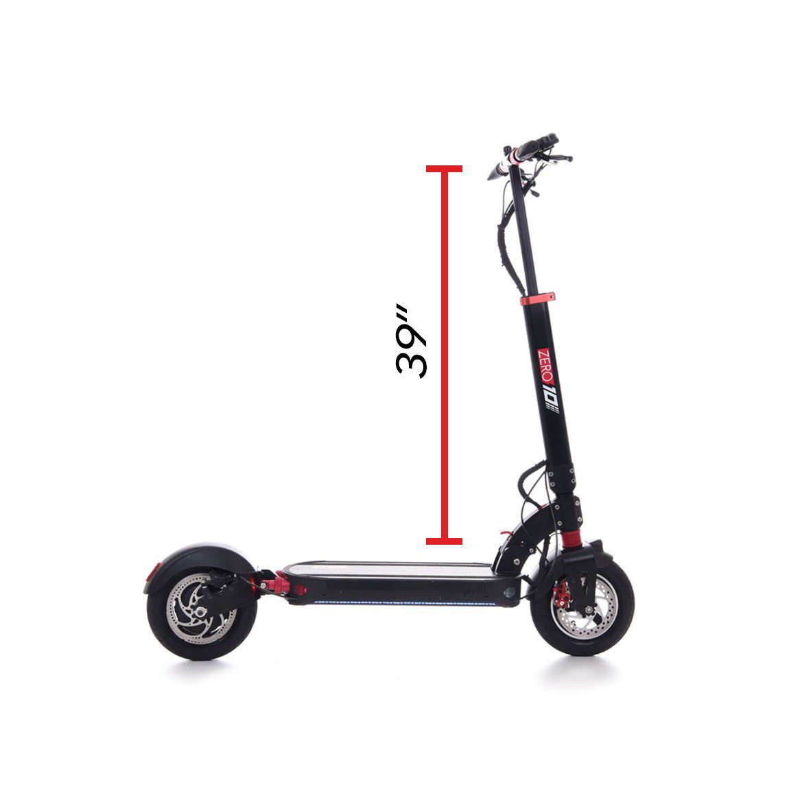 zero 10 electric scooter handlebar height