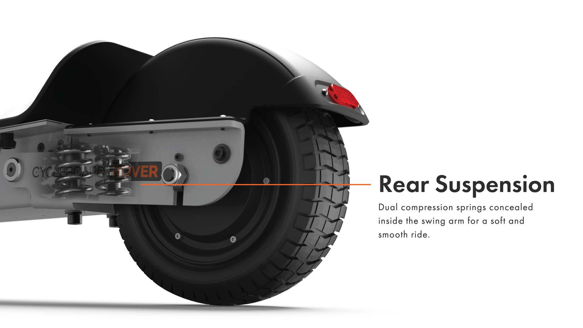 CycleBoard Balanced Scooter With Suspension and Tires