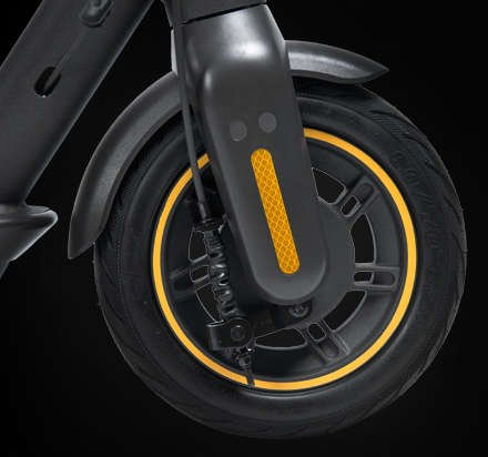 Segway ninebot MAX electric scooter front drum brake wheel tire solid reflectors