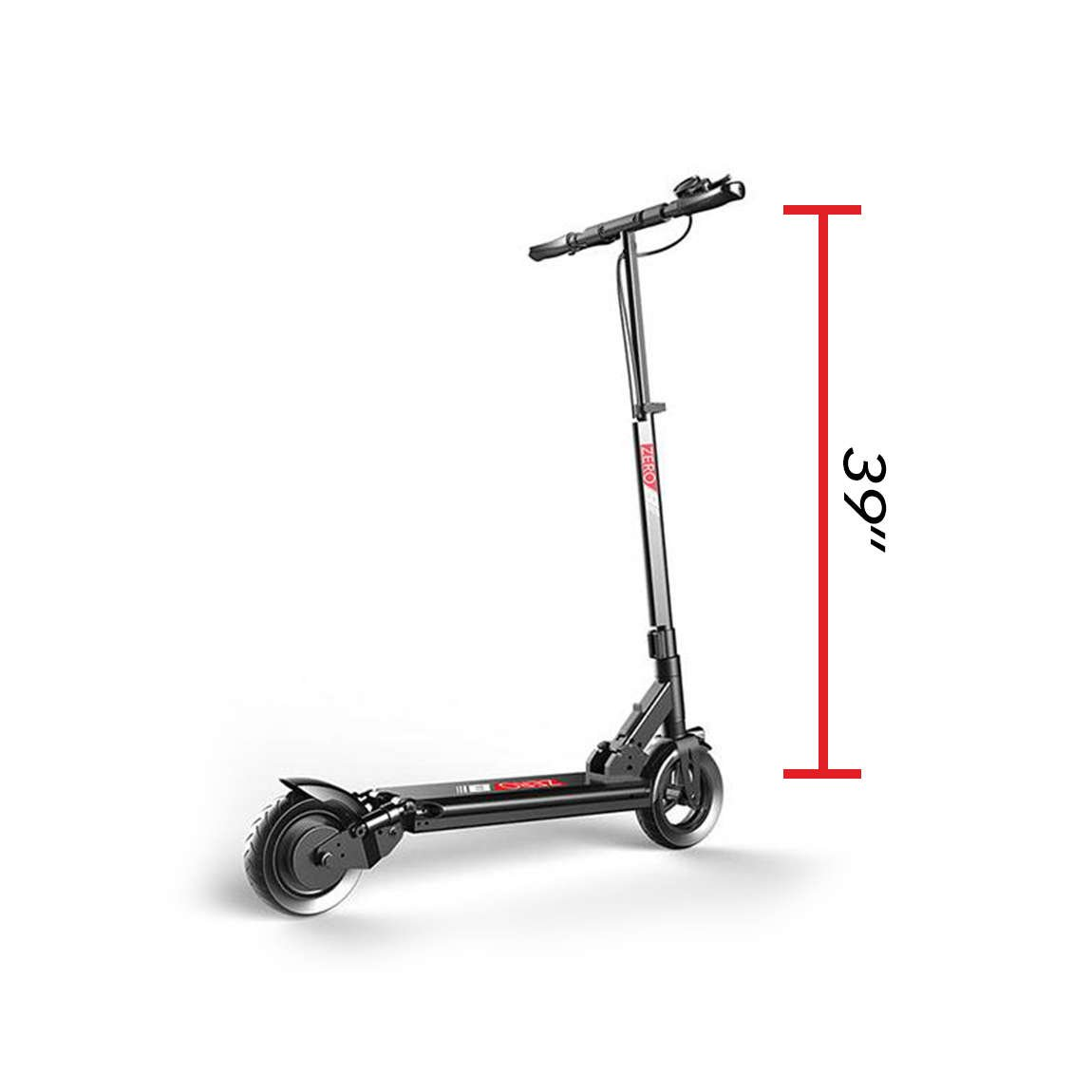 zero 8 electric scooter handlebar height 39 in
