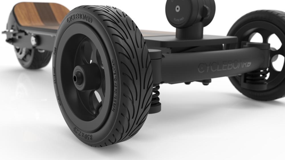 CycleBoard Balanced Scooter With Suspension Custom Tires