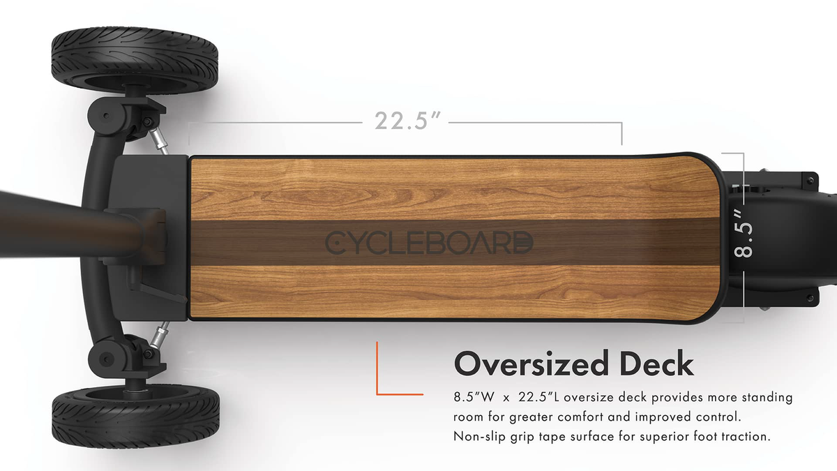 CycleBoard Balanced Scooter With Suspension Large Deck